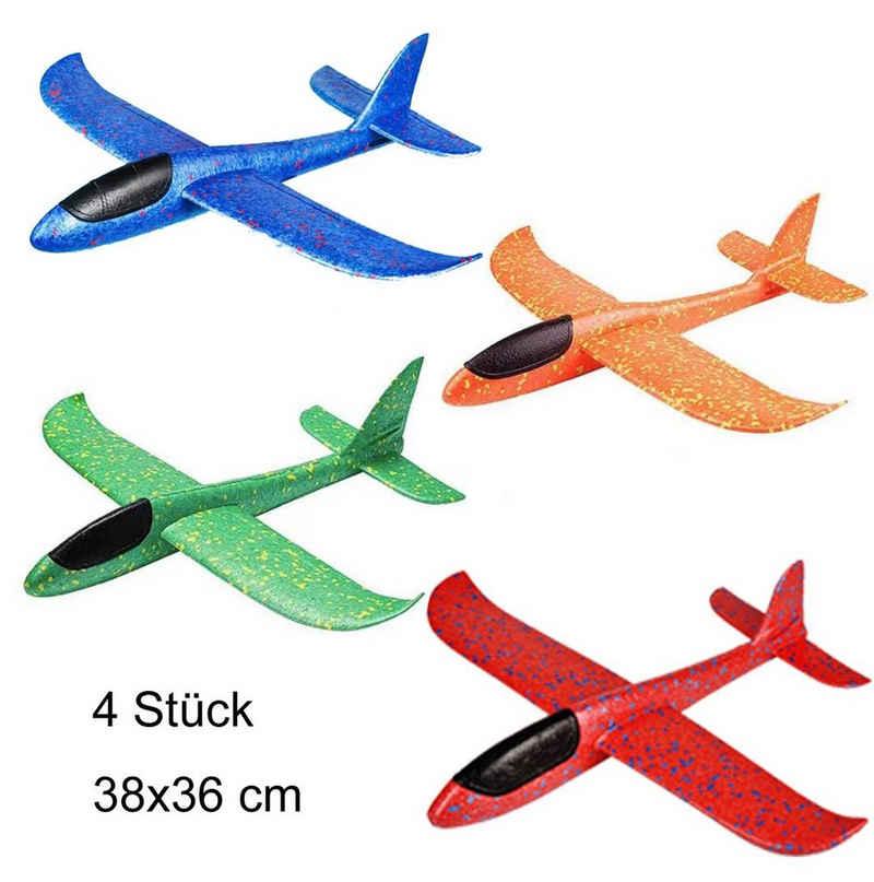 MIIGA Spielzeug-Segelflieger, (4er Set), Eco-freundlich, 2 Flug-Modi, robust, leicht, biegsam