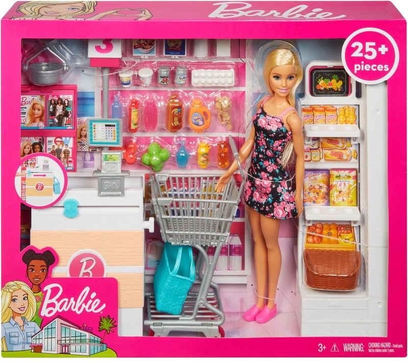 Barbie Anziehpuppe »Supermarkt und Puppe« (Set, 20-tlg., inkl. Supermarkt)