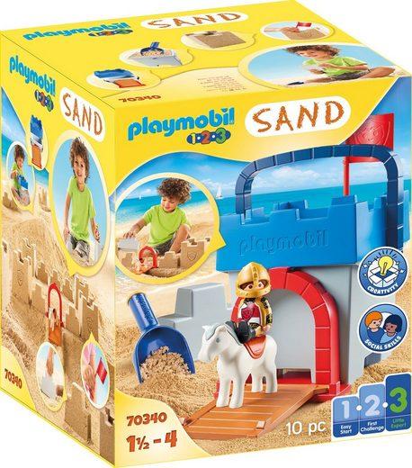Playmobil® Konstruktions-Spielset »Kreativset Sandburg (70340), Playmobil 123 - Sand«, Made in Europe