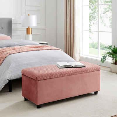 Leonique Bettbank »Fabrice«, Sitzfläche gesteppt, mit Strauraum