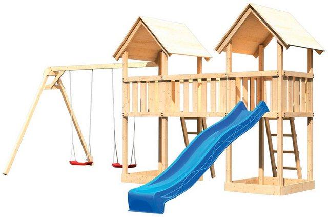 Empfehlung: Spielturm Ritterburg Lotti mit Rutsche & Schaukeln  von AKUBI*