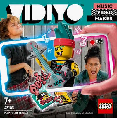 LEGO® Konstruktionsspielsteine »Punk Pirate BeatBox (43103), LEGO® VIDIYO™«, (73 St), appfähig durch die LEGO® VIDIYO™ App