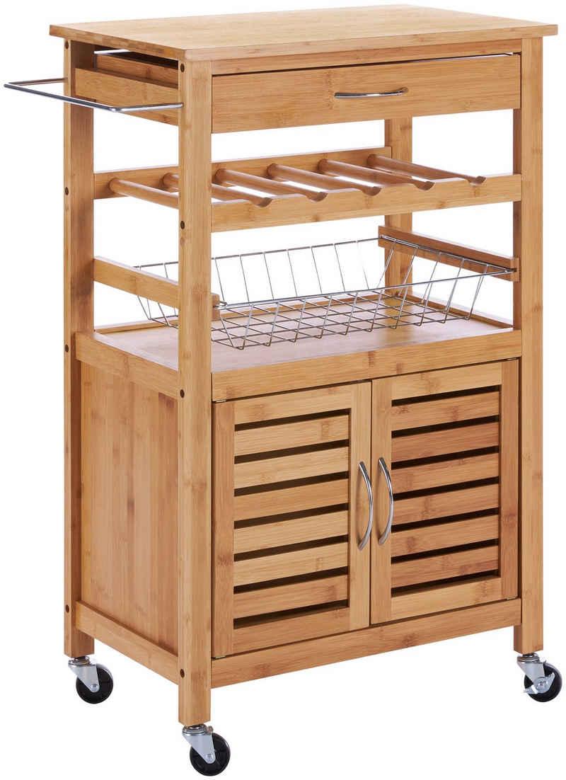Küchenwagen »Bambus«, 56 x 36 x 89 cm