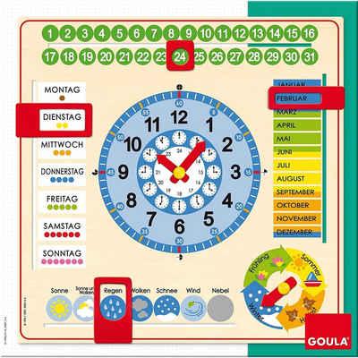 Goula Spiel, »Goula 51309 Kalenderuhr im Großformat, Lernspielzeug«