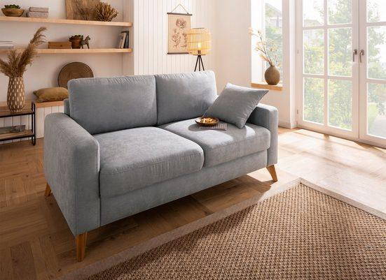 Home affaire 2,5-Sitzer »Stanza«, incl. 1 Zierkissen, Keder, Moderne Holzfüße, B/T/H: 171/93/89 cm