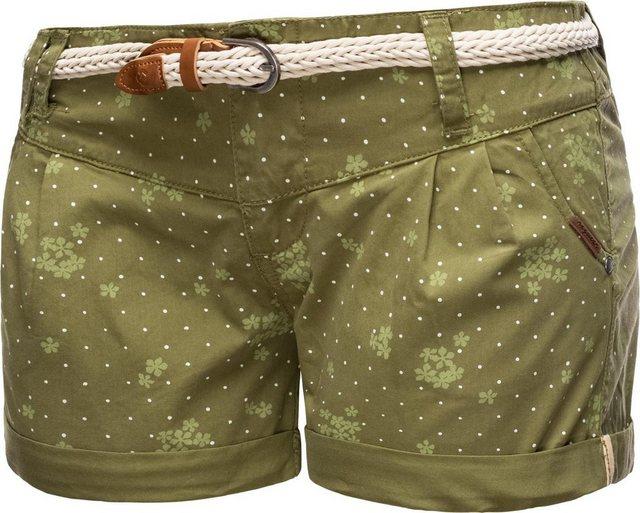 Hosen - Ragwear Shorts »Heaven Organic« (2 tlg) leichte Hotpants mit hochwertigem Flechtgürtel › grün  - Onlineshop OTTO