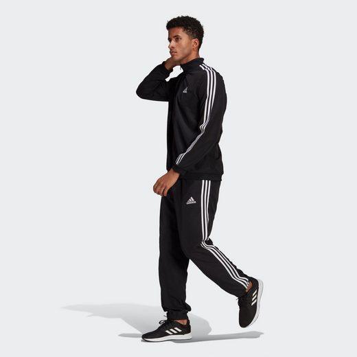 adidas Performance Sweatjacke »AEROREADY Essentials Regular-Fit 3-Streifen Trainingsanzug«