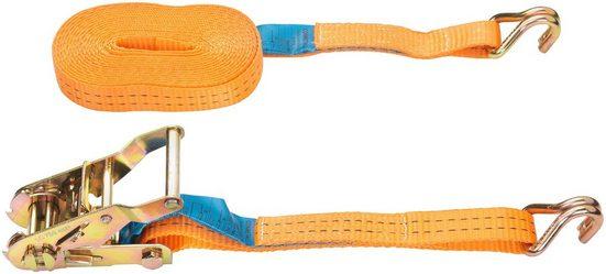 Connex Zurrgurt zweiteilig, mit Spannratsche und Spitzhaken, 500 cm