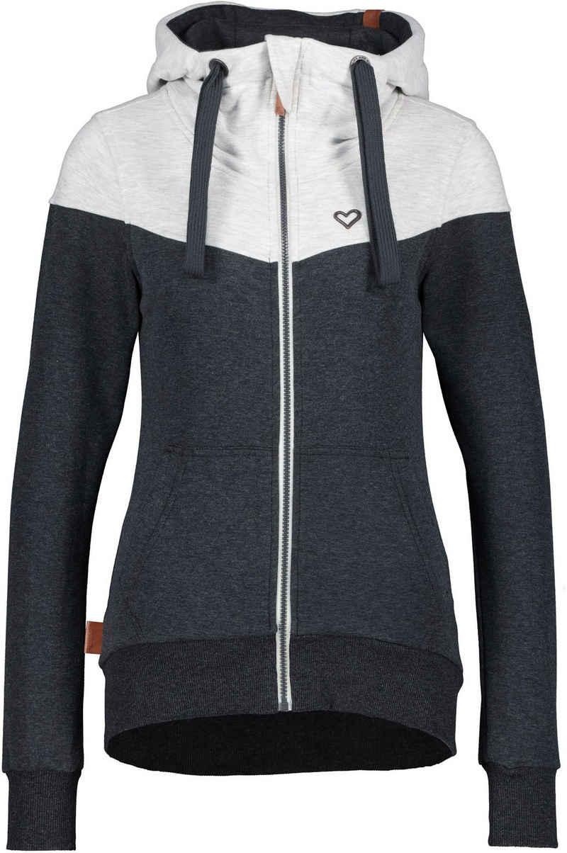Alife & Kickin Sweatshirt »PalinaAK« kuschelige Kapuzen-Sweatjacke mit aufwendigen Kontrastdetails