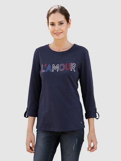 Laura Kent Shirt mit kontrastfarbenem Schriftzug