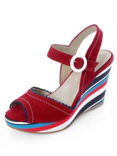 Alba Moda Sandalette mit bequemen Keilabsatz