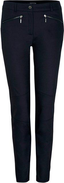 Hosen - Comma Stoffhose mit dekorativen Ziernähten an den Beinen › blau  - Onlineshop OTTO