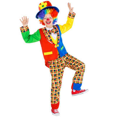 tectake Clown-Kostüm »Kinder - Teenkostüm Clown Sockenschuss«