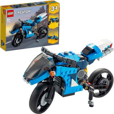 LEGO® Konstruktionsspielsteine »Geländemotorrad (31114), LEGO® Creator 3in1«, (236 St), Made in Europe