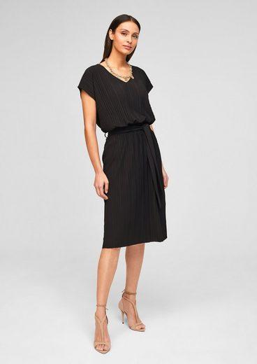 s.Oliver BLACK LABEL Minikleid »Kleid mit Plisseefalten«