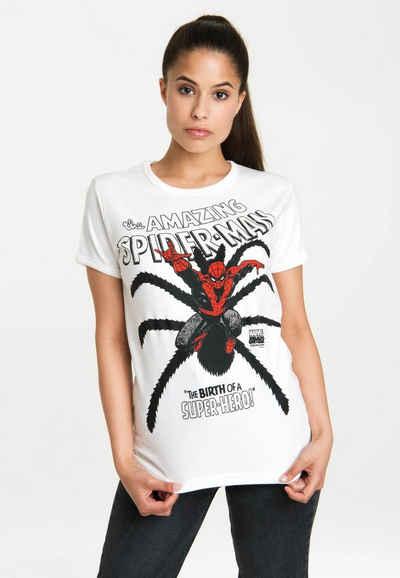 LOGOSHIRT T-Shirt »Spider-Man Birth« mit lizenzierten Originaldesign