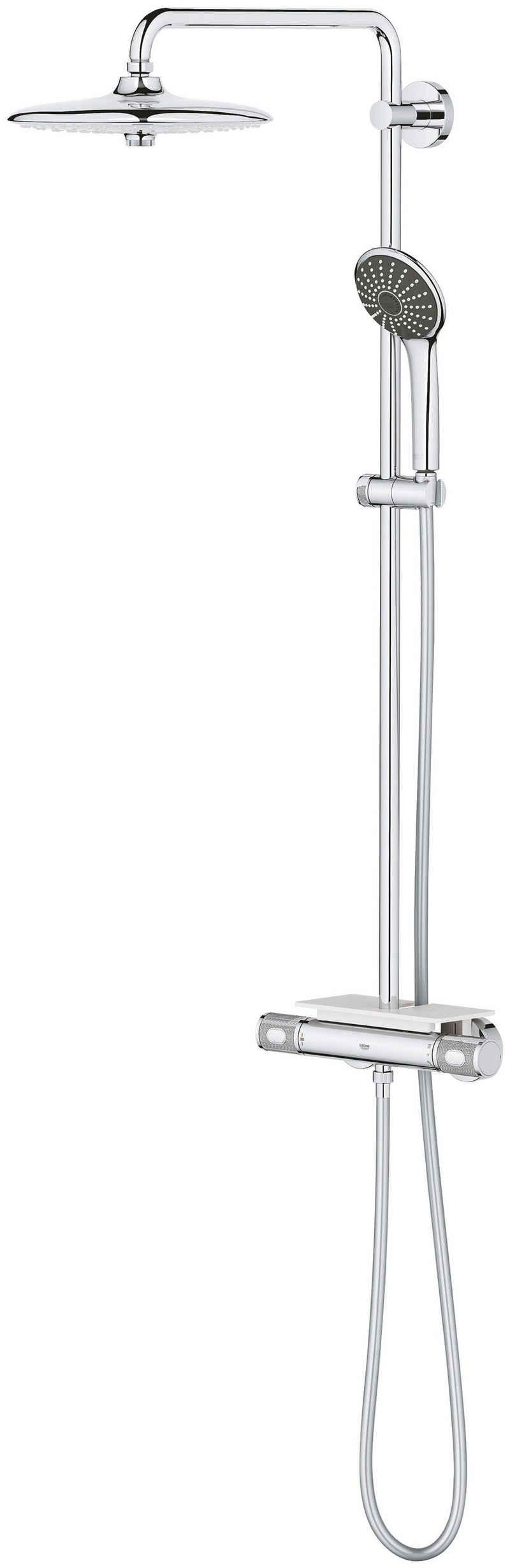 Grohe Duschsystem »Vitalio Joy 260 Duschsyst.THM Cool«, Höhe 111,6 cm, 4 Strahlart(en), Set, mit Thermostatbatterie für die Wandmontage