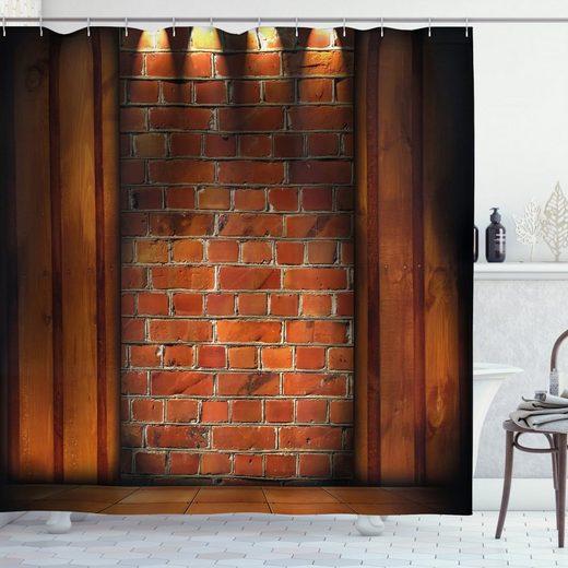 Abakuhaus Duschvorhang »Moderner Digitaldruck mit 12 Haken auf Stoff Wasser Resistent« Breite 175 cm, Höhe 180 cm, rustikal Wand Mauerwerk