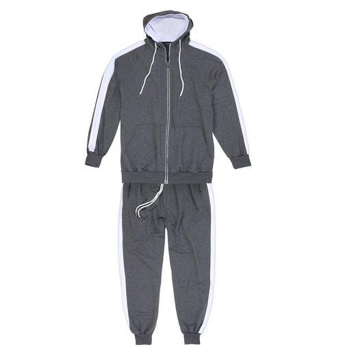 Lavecchia Trainingsanzug »Jogginganzug anthrazit-grau in Übergröße 611«