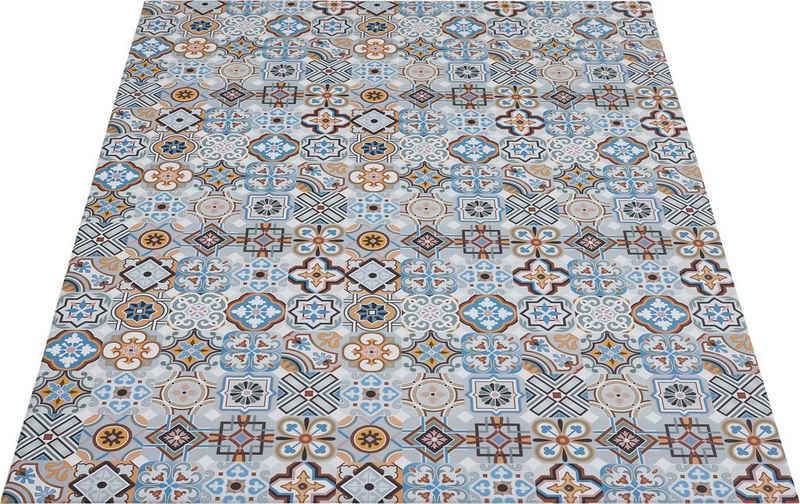 Vinylteppich »Marrakesch«, Andiamo, rechteckig, Höhe 5 mm, abwischbar, rutschhemmend, Fliesen Design, Ornamente