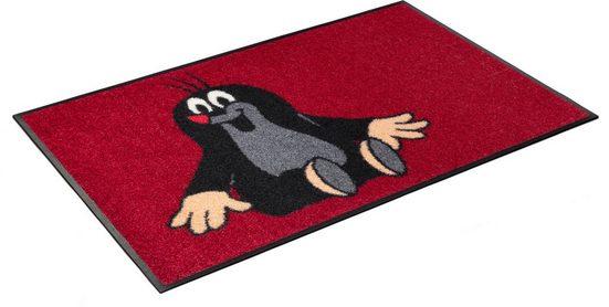 Fußmatte »Der kleine Maulwurf - sitzt«, wash+dry by Kleen-Tex, rechteckig, Höhe 7 mm, In- und Outdoor geeignet, waschbar