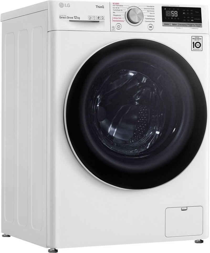 LG Waschmaschine F4WV512P0, 12 kg, 1400 U/min