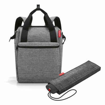 REISENTHEL® Reisetasche »allrounder R Set Twist Silver« (Set, 2-tlg), mit umbrella pocket mini