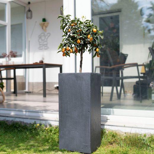 Köhko Pflanzkübel »KÖHKO® Blumenkübel aus Fiberglas Pflanzkübel Säuletopf«
