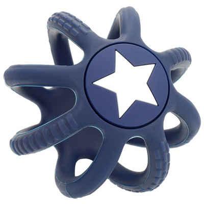 BIECO Beißring »Bieco Beißring Baby Blau, Ø 7 cm aus Silikon Stressball zum Kneten Greifball Für Babys Beissring Für Baby Zum Zahnen Motorikspielzeug Baby Ball Kinder Knetball für Hände Therapie«