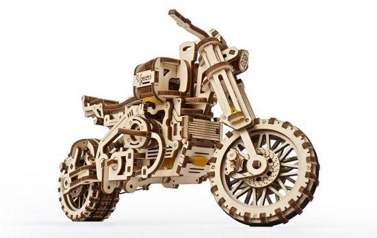 UGEARS 3D-Puzzle »UGEARS Holz 3D-Puzzle Modellbausatz MOTORRAD SCRAMBLER UGR-10«, 380 Puzzleteile