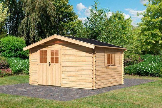 KARIBU Set: Gartenhaus »Köpenick 5«, BxT: 387x297 cm, inkl. Dachschindeln
