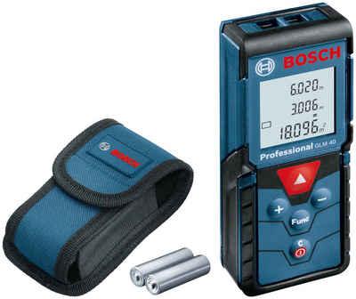 Bosch Professional Lasermessgerät »GLM 40 Professional«, Staub- und Spritzwasserschutz IP54
