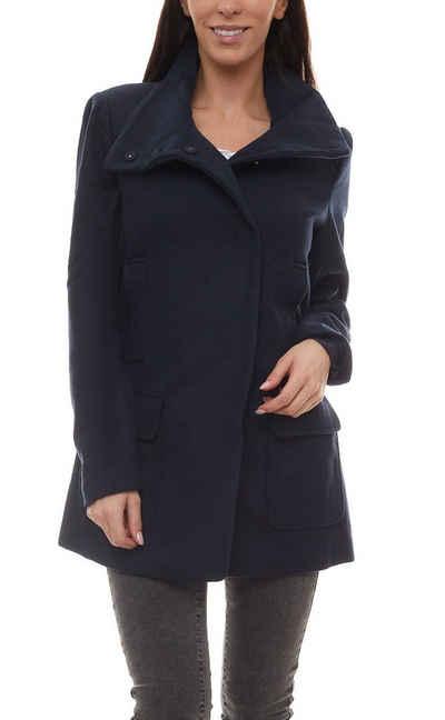 Boysen's Wolljacke »BOYSEN´S Outdoor-Jacke angenehm weiche Damen Woll-Jacke mit Stehkragen Freizeit-Jacke Blau«
