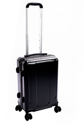 dynamic24 Handgepäck-Trolley, Handgepäck Trolley 39L Carbon Optik TSA Reisekoffer Boardcase Koffer
