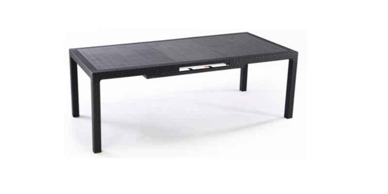 Keter Gartentisch »Keter ausziehbarer Dining Tisch Symphony, Gartentisch« (1-St), 1x Tisch, 1x Erweiterung