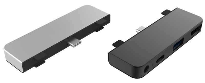 "HYPER by Sanho »HyperDrive« Tablet-Adapter, [4-in-1 USB-C Hub für Apple iPad Air 10.9"" / iPad Pro 11"" / iPad Pro 12.9"", HDMI (4K/30Hz), USB-C Power Delivery (60W), USB-A 3.0, 3,5mm Audio (Klinkenanschluss)] - silber"