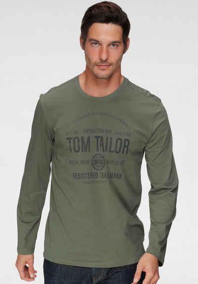 TOM TAILOR Langarmshirt mit Logoprint