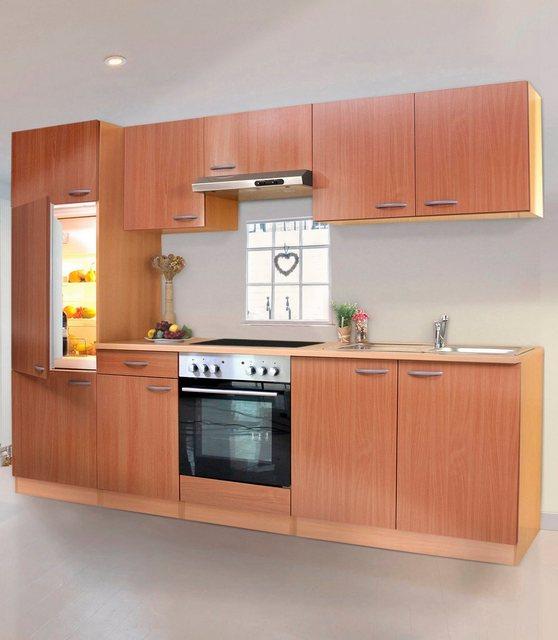 Küchenzeile mit Glaskeramik-Kochfeld Basic, Breite 270 cm