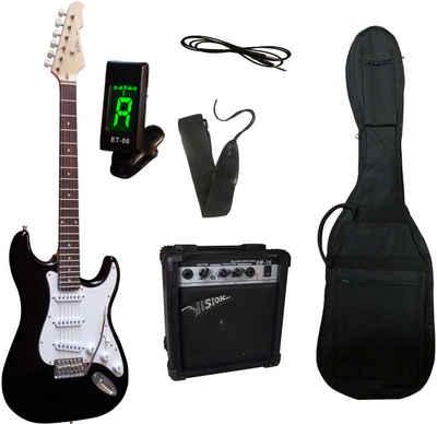 Gitarrenset »E-Gitarre - ready to go«, inkl. Verstärker, Gitarrentasche, Gitarrengurt, Klinkenkabel und Stimmgerät