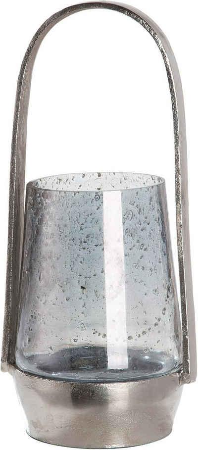 GILDE Windlicht »Noche« (1 Stück), aus Aluminium mit Glas-Einsatz