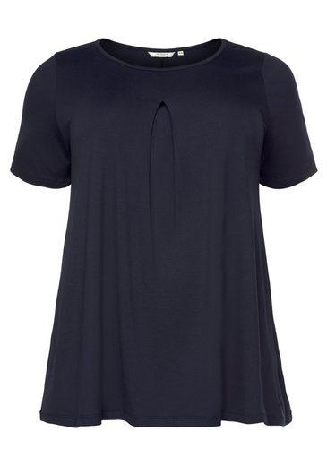 TOM TAILOR MY TRUE ME T-Shirt mit modischer Keller-Falte vorne