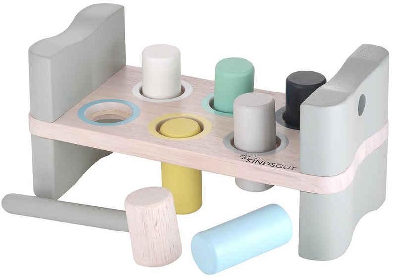 Kindsgut Hammerbank, (7-tlg), Holz-Spielzeug für Kinder ab 18 Monaten, 24,5 cm x 12,5 cm x 12 cm, Klein-Kind, unisex, umweltfreundlich