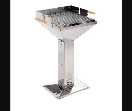 Grillchef Holzkohlegrill, Trichtergrill 95,5cm silber Style 11282