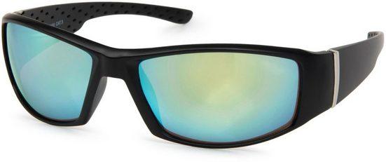 styleBREAKER Sonnenbrille »Sport Sonnenbrille mit Kunststoff Vollrand« Verspiegelt