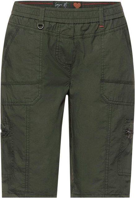Hosen - Cecil Shorts »Style Jessy« ohne Verschluss › grün  - Onlineshop OTTO