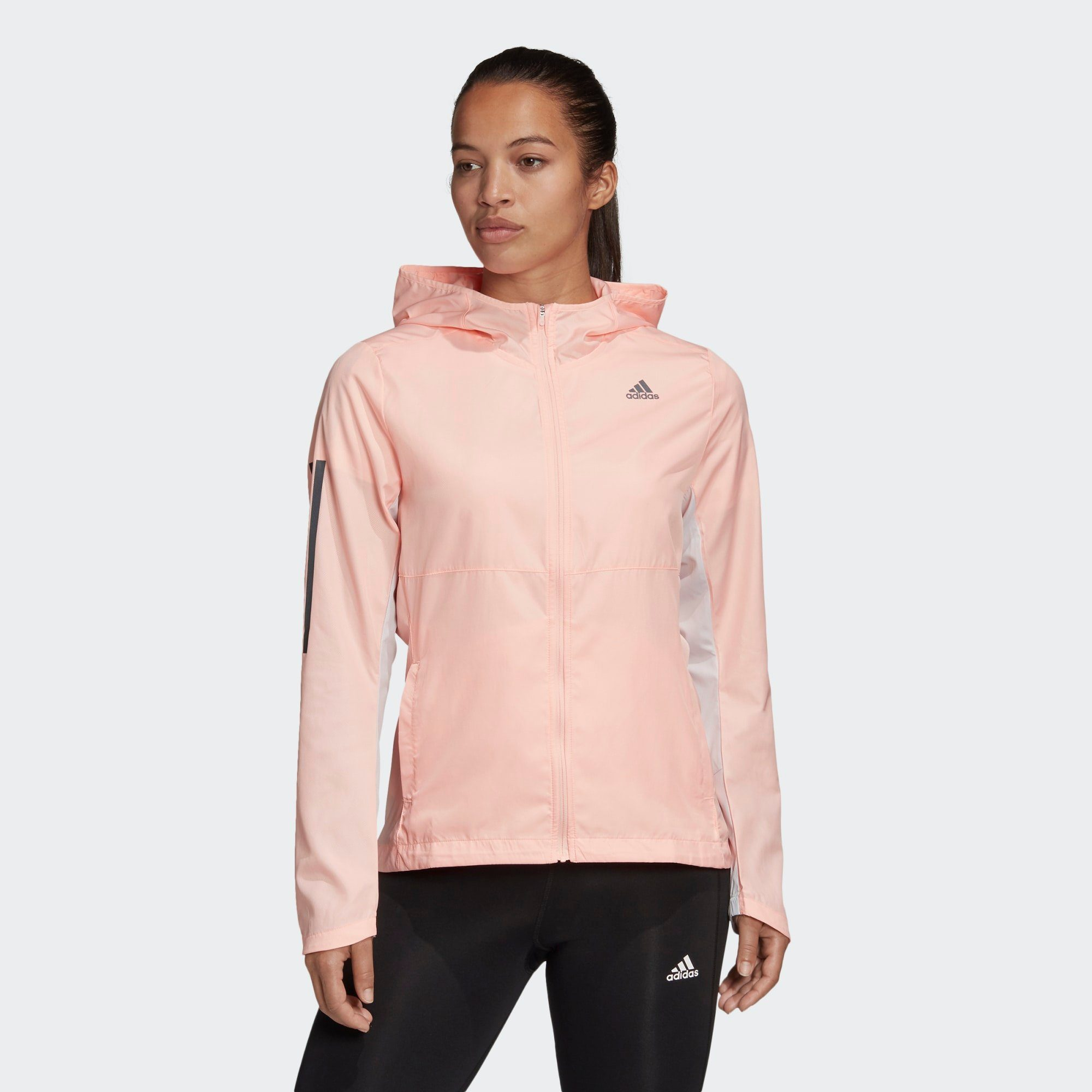 Shop den adidas Performance own the run hooded windjacke in
