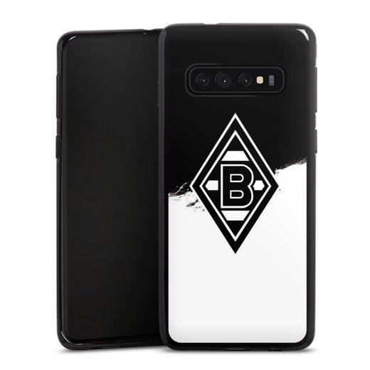 DeinDesign Handyhülle »Borussia Scratch Schwarz-Weiss« Samsung Galaxy S10, Hülle Borussia Mönchengladbach Gladbach Bundesliga
