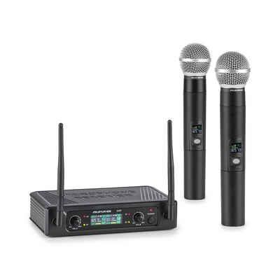 Auna Mikrofon »UHF200F-2H 2-Kanal UHF-Funkmikrofon-Set Receiver 2xHandmikro« (Set)