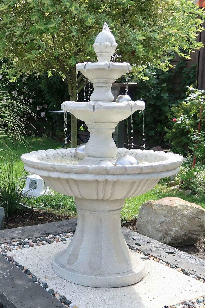 """Köhko Gartenbrunnen »KÖHKO® Wasserspiel """"Markleeberg"""" klassischer Etagenbrunnen Vogelbad 13010 Springbrunnen Gartenbrunnen«"""