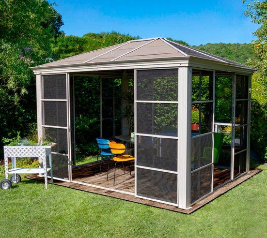 Sojag Pavillon »Striano«, mit 4 Seitenteilen, (Set), BxT: 427x362 cm